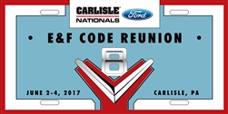 2017 Ford Nationals- E & F Code License Plate